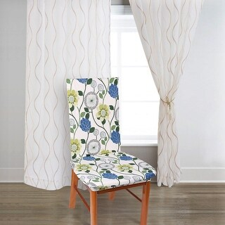 Unique Bargains Flower Pattern Stretch Flower Dining Chair Slipcovers