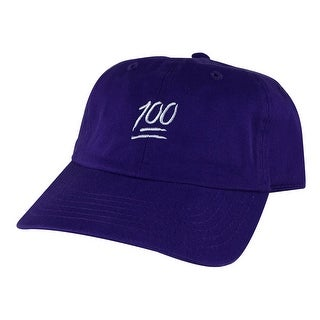 CapRobot Emoji The 100 Hundred Cotton Adjustable Unstructured Strapback Hat Dad Cap - Purple Grey