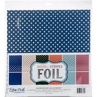 "Dots W/Silver Foil Collection Kit - Echo Park Double-Sided Collection Pack 12""X12"" 6/Pkg"
