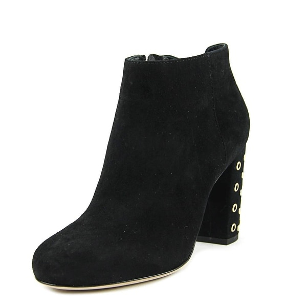 Kate Spade Cirra Women Round Toe Suede Black Ankle Boot