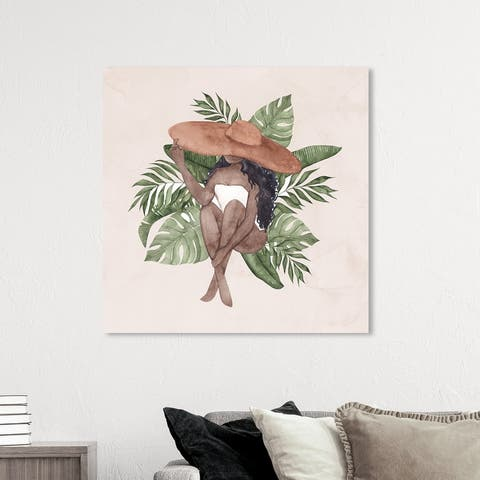 Oliver Gal 'Summer Breeze' Fashion and Glam Brown Wall Art Canvas Print