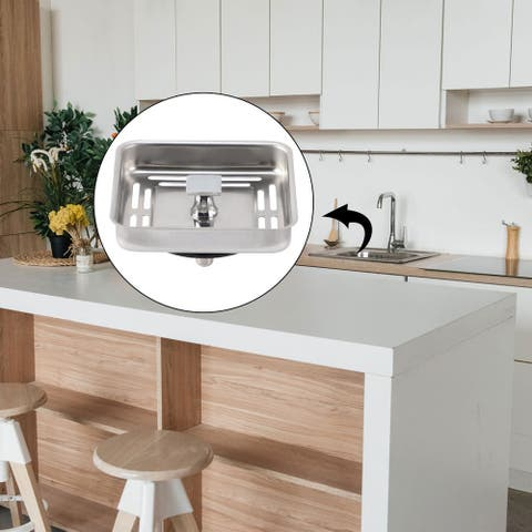 Square Stainless Steel Sink Strainer with Post Stopper Home Kitchen