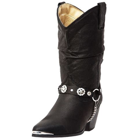 Dingo Fashion Boots Womens Leather Olivia Harness Black Pigskin