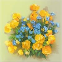 """Globe Flowers Stamped Cross Stitch Kit-8""""X8"""""""