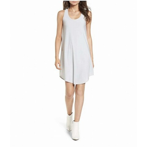 Leith Womens Large Scoop-Neck Shirttail Tank Shift Dress