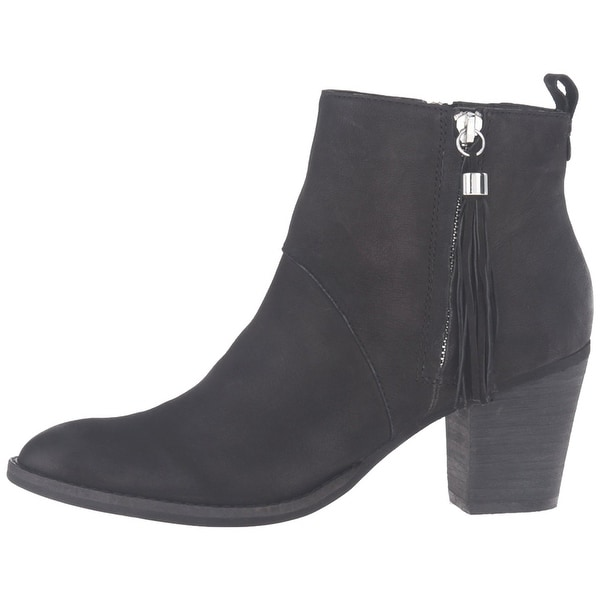 STEVEN by Steve Madden Womens Beti Leather Closed Toe Ankle Chelsea Boots