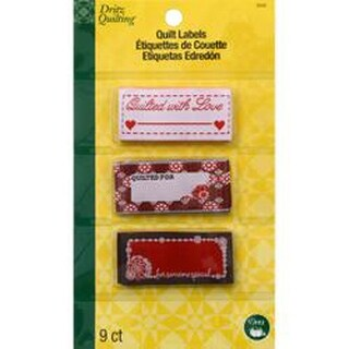Quilted With Love - Dritz Quilting Sew In Embroidered Labels 9/Pkg