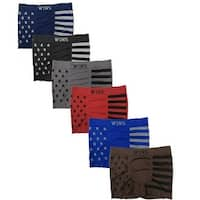 Men's 6 Pack American Flag Print Seamless Boxer Briefs