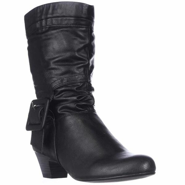 SC35 Yesme Mid-Calf Fashion Boots, Black - 6.5 us
