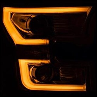 15-16 Ford F-150 Projector Headlights with Plank Style Switchback