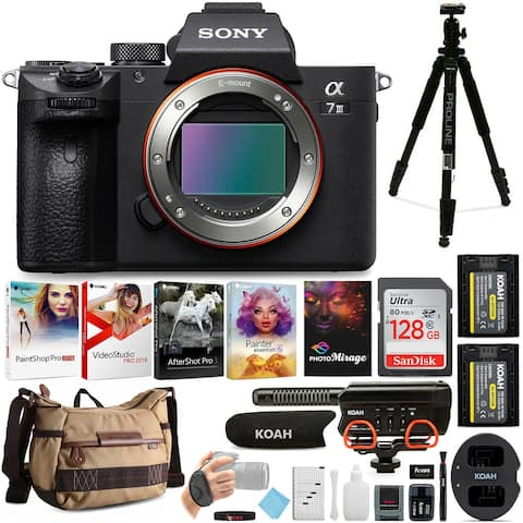 Sony a7 III Mirrorless Digital Camera (Body Only) w/ Accessory Bundle