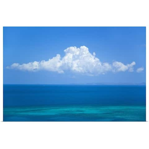 """""""View Of Clouds Over Ocean"""" Poster Print"""