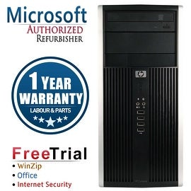 Refurbished HP Compaq 6000 Pro Tower Intel Core 2 Quad Q6600 2.4G 8G DDR3 2TB DVDRW Win 10 Pro 1 Year Warranty
