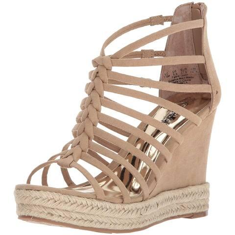 Carlos by Carlos Santana Womens Camilla Fabric Open Toe Casual Platform Sandals