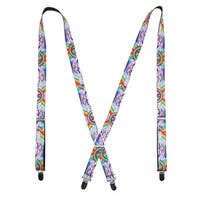 Buckle Down Women's Rainbow Unicorn Novelty Suspenders