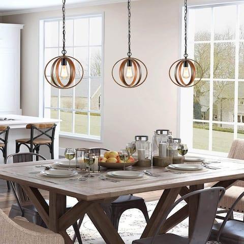 "Carbon Loft Ghaffari Farmhouse Island Pendant Lighting for Kitchen Circle Mini Ceiling Lamp - W 11""x H 13"""
