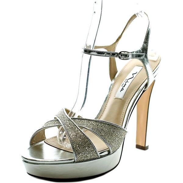 Nina Maria Women Open Toe Synthetic Platform Heel