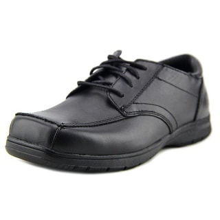 Kenneth Cole Reaction Blank Check Youth Square Toe Leather Black Oxford