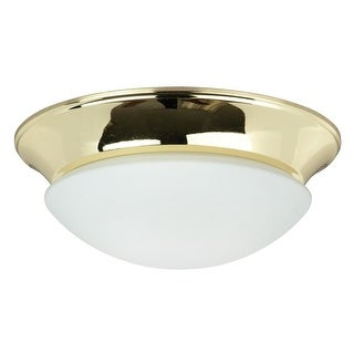 "Sunset Lighting F7130 2 Light 120 Watt 12"" Wide Flush Mount Ceiling Fixture"