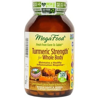 MegaFood Turmeric Strength for Whole Body Health - 120 Tablets Maintains Healthy Inflammation Response