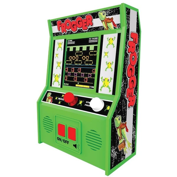 Retro Arcade Video Game Mini Console - Frogger - Green