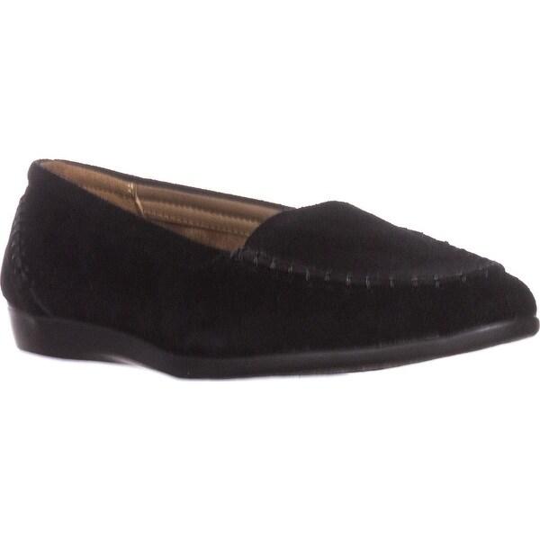 Aerosoles Trending Slip-on Loafers, Black Suede
