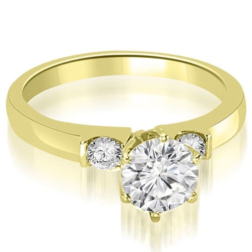 0.80 cttw. 14K Yellow Gold Round Cut Diamond Engagement Ring