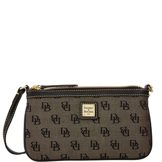Dooney & Bourke Madison Signature Large Slim Wristlet (Introduced by Dooney & Bourke at $78 in Nov 2015) - Black
