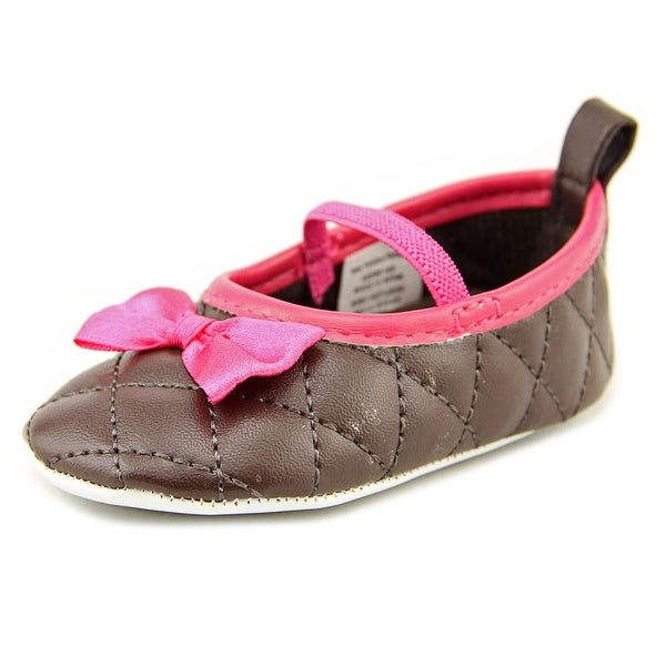 Luvable Friends Quilted Infant  Round Toe Synthetic Brown Mary Janes