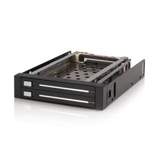 Startech.Com 2 Drive 2.5In Trayless Hot Swap Sata Mobile Rack Backplane - Dual Drive Sata Mobile Rack Enclosure For 3.5