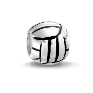 Bling Jewelry Volleyball Charm 925 Sterling Silver Sports Bead