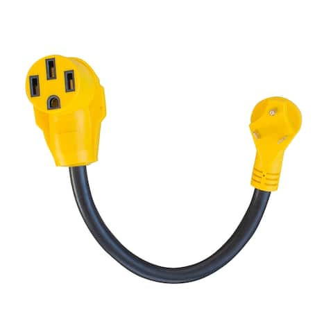 """Offex 18"""" 125 Volt 30 Amp Male to 50 Amp Female Dog Bone RV Camper Power Cable"""