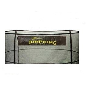 Bazoongi NET15-JP5-7JK 15 ft. Enclosure Netting with 5 Poles & 7 in. Springs with Jump King Logo