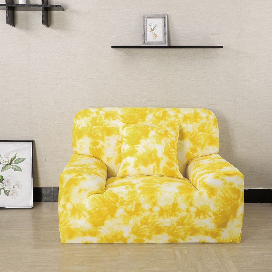 Groovy Soft Floral Stretch Sofa Couch Cover Slipcovers Protector Short Links Chair Design For Home Short Linksinfo