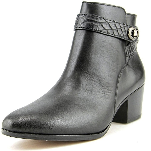 Coach Womens Patricia Leather Almond Toe Ankle Fashion Boots