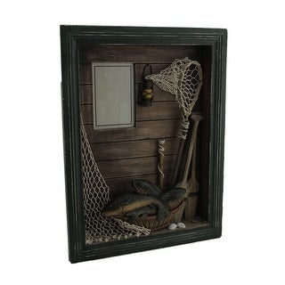 Catch of the Day Decorative Lake Theme Shadowbox Photo Frame