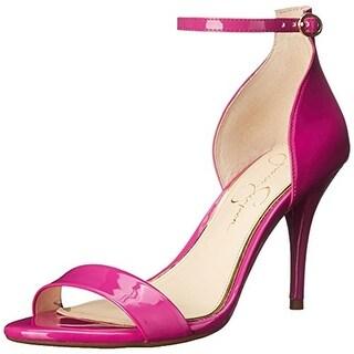 Jessica Simpson Womens Mirena Dress Sandals Patent Ankle Strap - 5.5 medium (b,m)