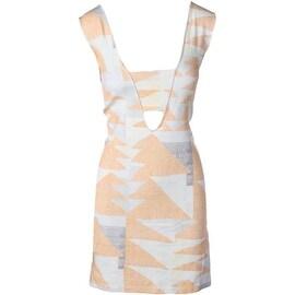 Mara Hoffman Womens Sleeveless Cut Out Cocktail Dress