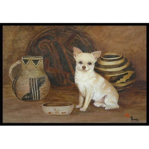 Carolines Treasures MH1043JMAT Chihuahua Ancient History Indoor & Outdoor Mat 24 x 36 in.