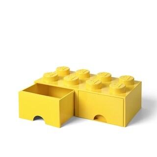 Lego Storage Brick 2 Drawer Bright Yellow - Multi