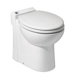 Saniflo 23 SANICOMPACT 48 Ounce, One-Piece Toilet With Macerator Built Into The Base