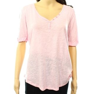 PJ SALVAGE NEW Light Pink Women's Size Medium M Lace Trim Sleepshirt
