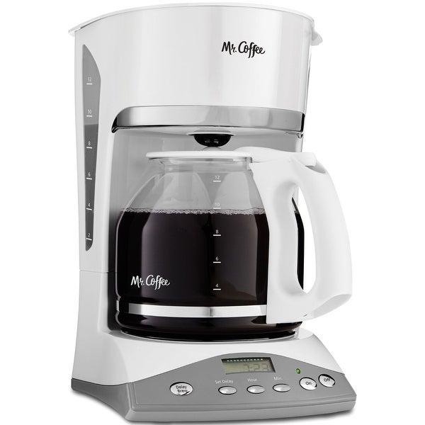 Mr. Coffee SKX20 Programmable Coffeemaker, 12-Cup, White