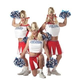 California Costumes Varsity Cheerleader Adult Costume - Red/White - One Size