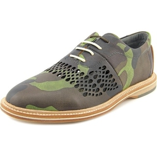 TCG Mercer Men Round Toe Leather Green Oxford