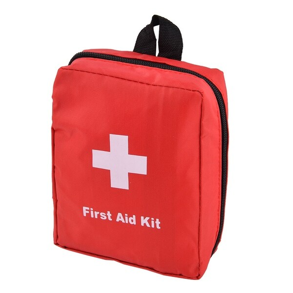 Home Travel Oxford Cloth Emergency First Responder Aid Rescue Storage Bag Red