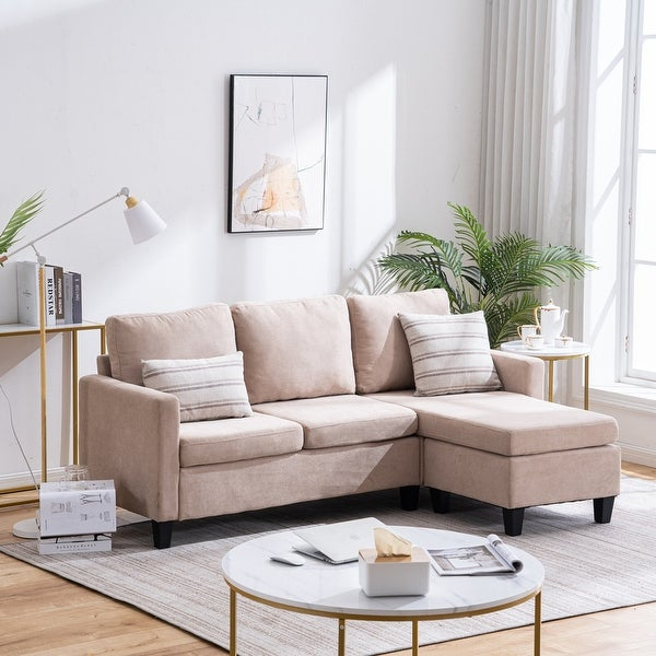 Reversible L-shaped Sectional Sofa Set. Opens flyout.