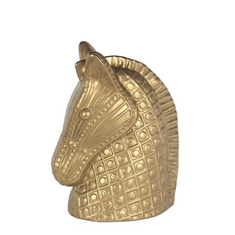 Small Gold Geometric Ceramic Horse Decor