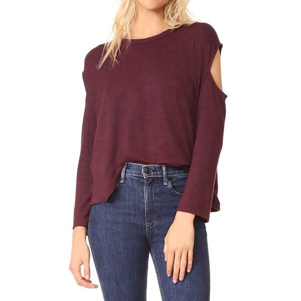 7d6210368bb6d8 Shop Rag   Bone Women s Medium Cold-Shoulder Knit Top - On Sale ...