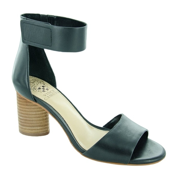 Vince Camuto Womens Jacon Leather Open Toe Casual Ankle Strap Sandals